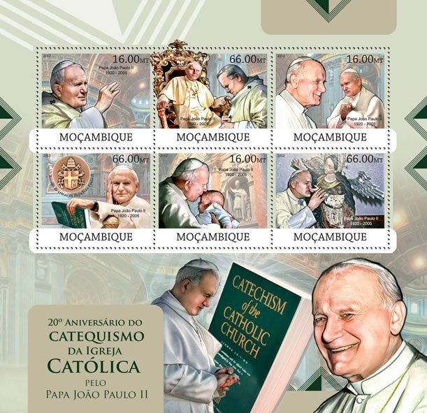 Catechism - Issue of Mozambique postage Stamps
