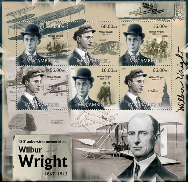 Wilbur Wright - Issue of Mozambique postage Stamps