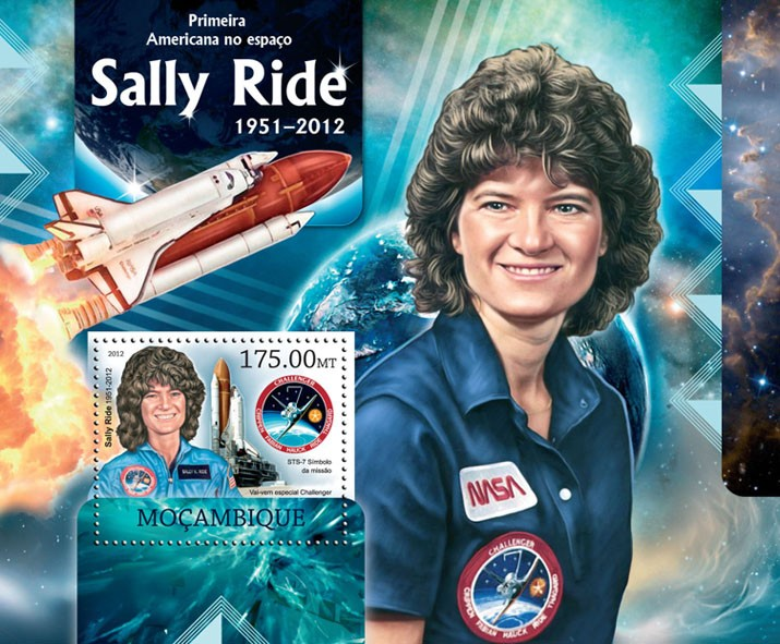 Sally Ride - Issue of Mozambique postage Stamps