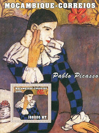 Pablo Picasso - Issue of Mozambique postage Stamps