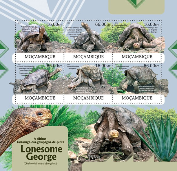 Lonesome George - Issue of Mozambique postage Stamps
