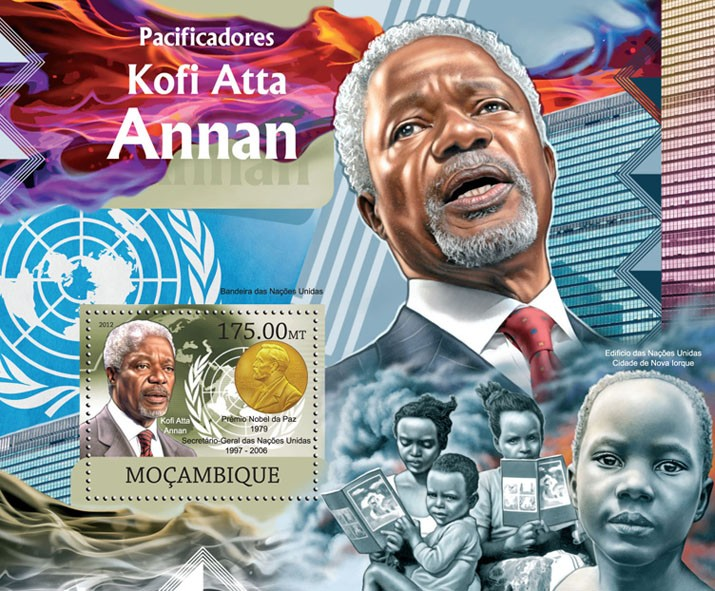 Peacemakers - Issue of Mozambique postage Stamps