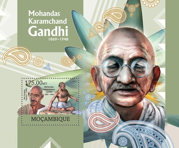 M. K. Gandhi - Issue of Mozambique postage Stamps