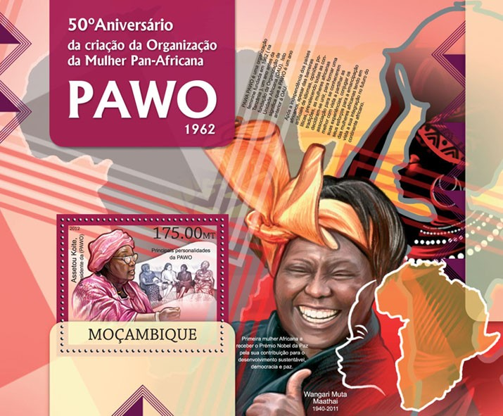 PAWO - Issue of Mozambique postage Stamps