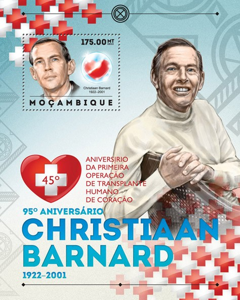 Christiaan Barnard - Issue of Mozambique postage Stamps