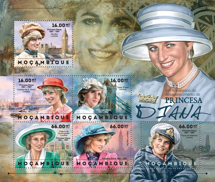 Diana - Issue of Mozambique postage Stamps