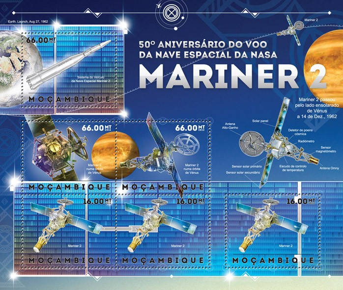 NASA - Issue of Mozambique postage Stamps