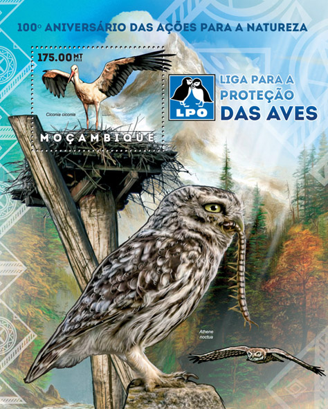 Birds of prey - Issue of Mozambique postage Stamps