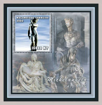 Michelangelo S/S (1 x 15000 MT) - Issue of Mozambique postage Stamps