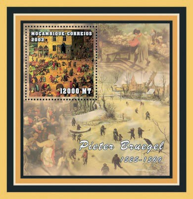 Pieter Bruegel 12000  MT - Issue of Mozambique postage Stamps