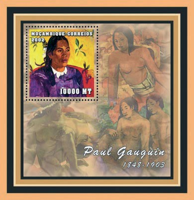 Paul Gauguin  10000 MT - Issue of Mozambique postage Stamps