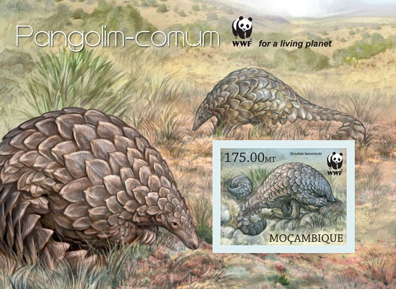 WWF - Pangolin - Issue of Mozambique postage Stamps