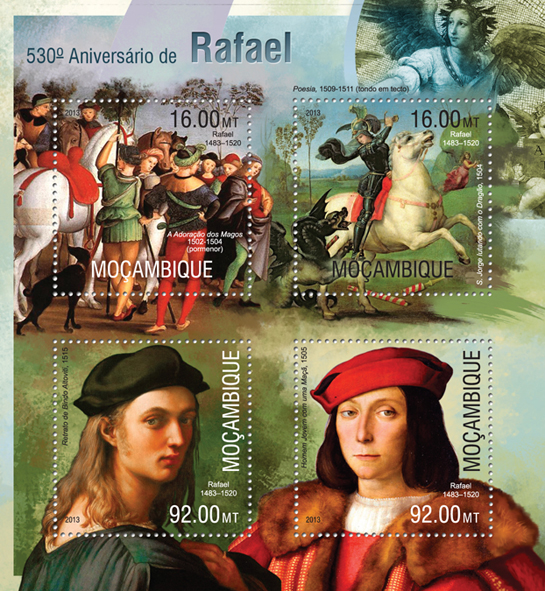 Raphael - Issue of Mozambique postage Stamps