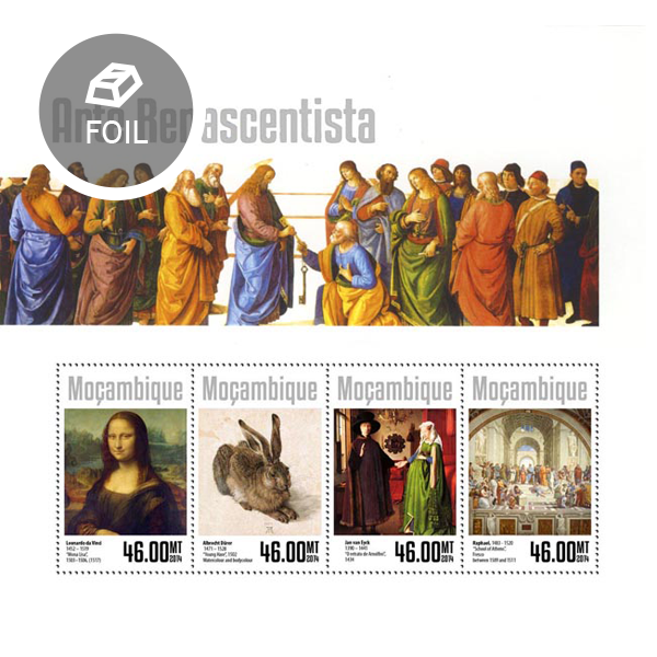 Renaissance art  - Issue of Mozambique postage Stamps