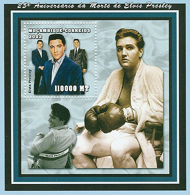 Elvis Presley  110000 MT  S/S - Issue of Mozambique postage Stamps