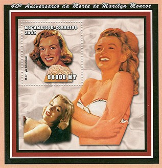 Marilyn Monroe  88000 MT  S/S - Issue of Mozambique postage Stamps