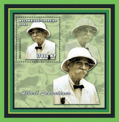 Albert Schweitzer  17000 MT - Issue of Mozambique postage Stamps