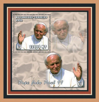 Pope Joan Paul II 22000 MT - Issue of Mozambique postage Stamps