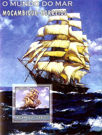 Ships  110000 MT  S/S - Issue of Mozambique postage Stamps