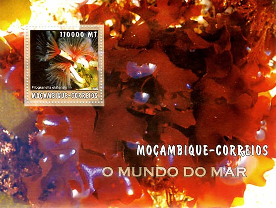 Sea Weed  110000 MT  S/S - Issue of Mozambique postage Stamps