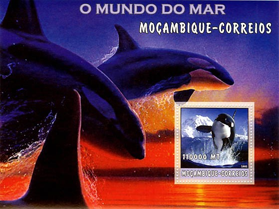 Orca 110000 MT  S/S - Issue of Mozambique postage Stamps