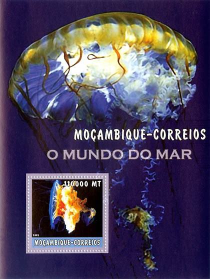 Medusa  110000 MT  S/S - Issue of Mozambique postage Stamps