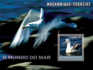 Sea Birds 11000 MT  S/S - Issue of Mozambique postage Stamps