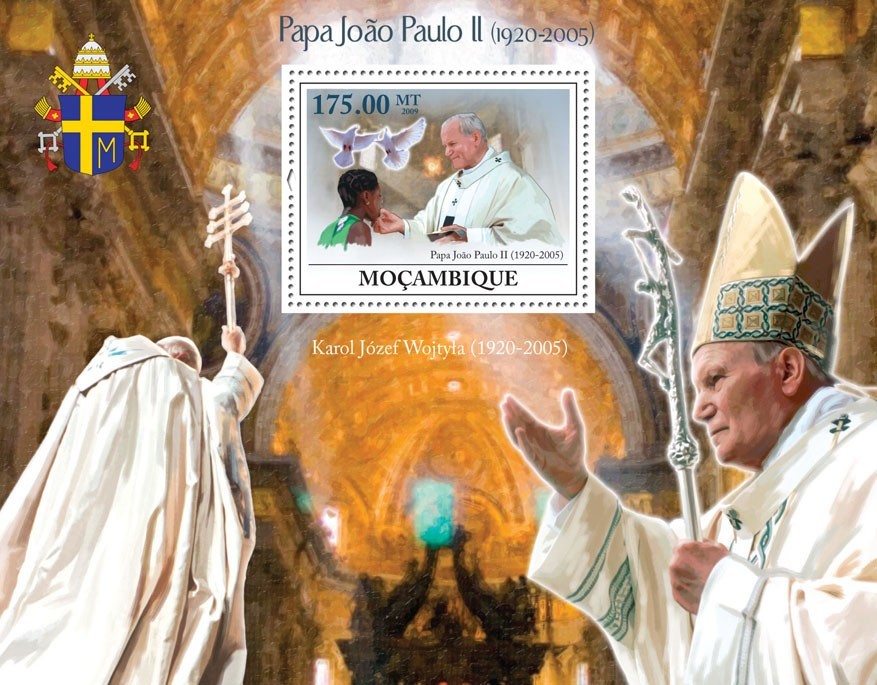 Pope John Paul II (1920-2005) - Issue of Mozambique postage Stamps