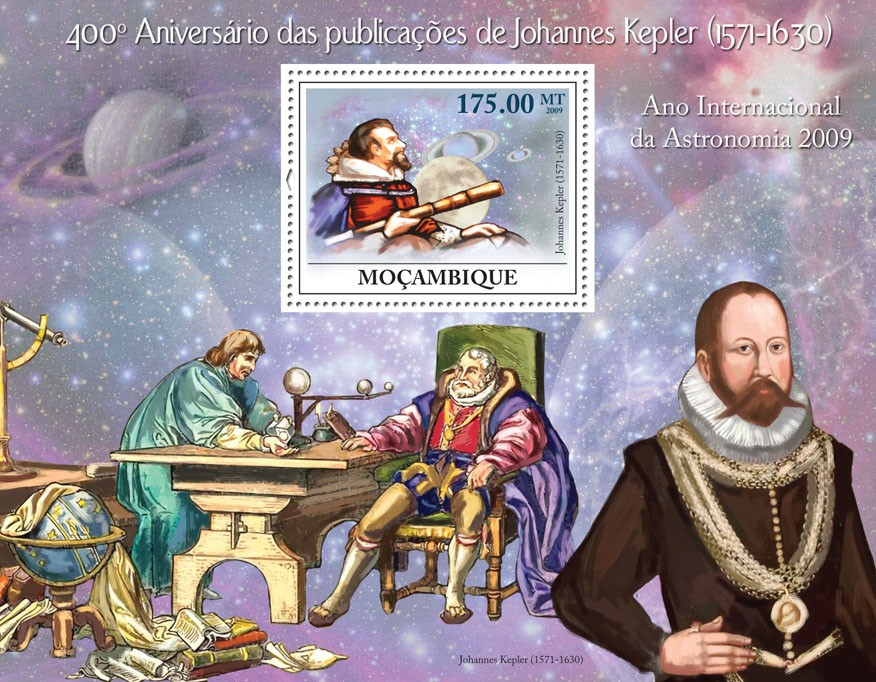 400th Anniversary of Publications of Johannes Kepler (1571-1630) - Issue of Mozambique postage Stamps