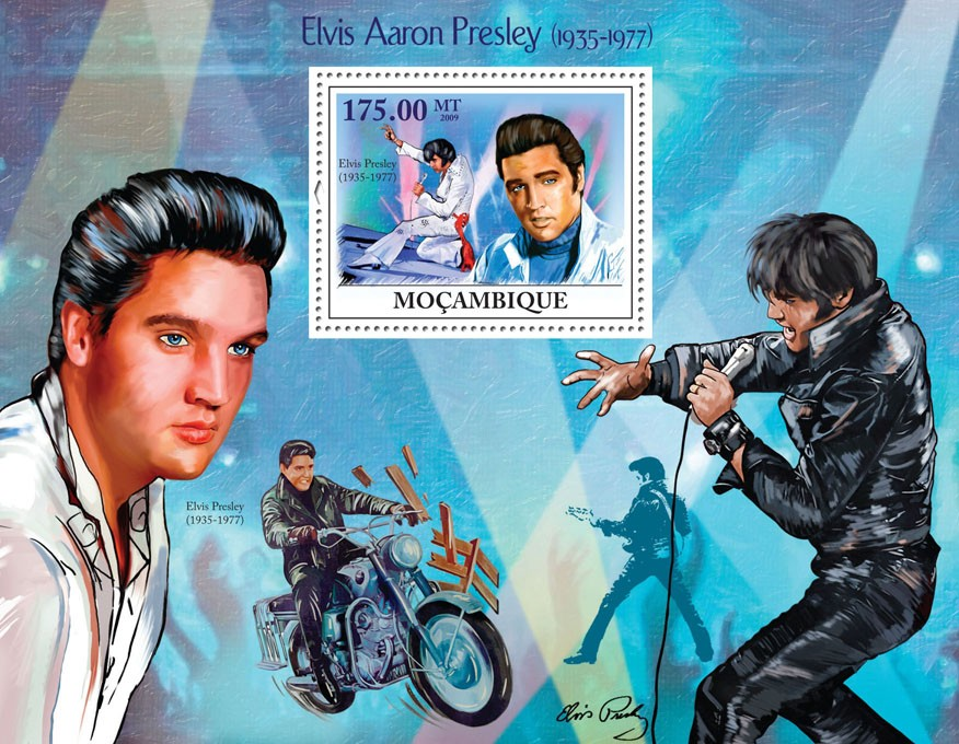 Elvis Aaron Presley, (1935-1977) - Issue of Mozambique postage Stamps