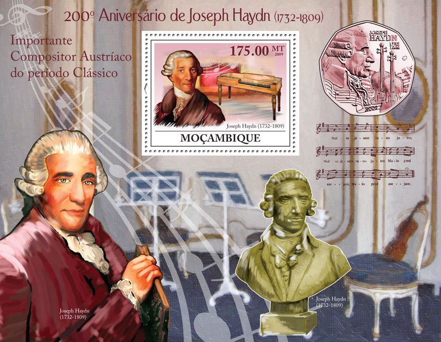 200th Anniversary of Joseph Haydn,(1732-1809) - Issue of Mozambique postage Stamps