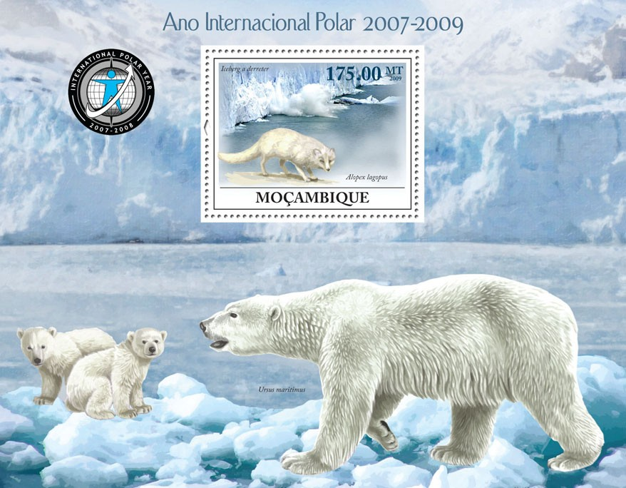 International Polar Year 2007-2009 - Issue of Mozambique postage Stamps