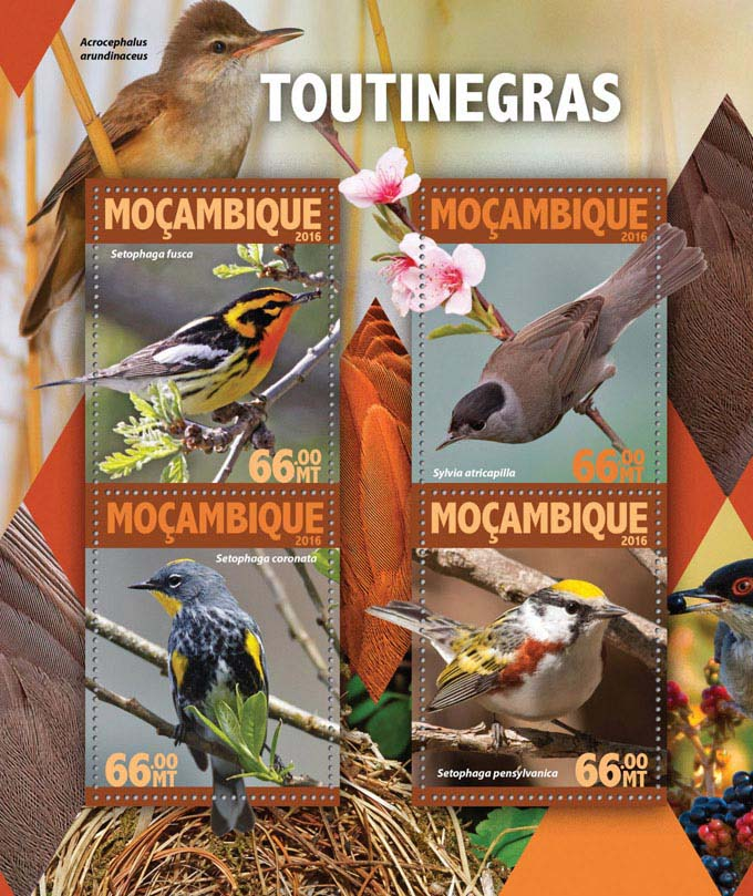 Warblers - Issue of Mozambique postage Stamps