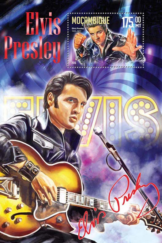Elvis Presley - Issue of Mozambique postage Stamps