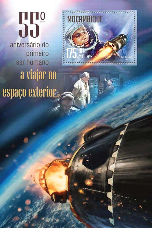 Space - Issue of Mozambique postage Stamps