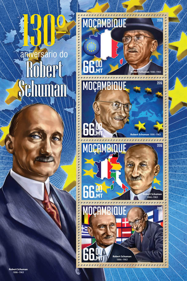 Robert Schuman - Issue of Mozambique postage Stamps