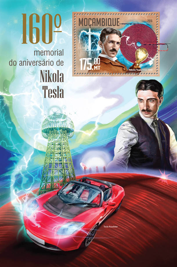 Nikola Tesla - Issue of Mozambique postage Stamps