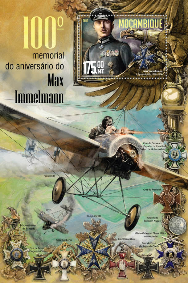 Max Immelmann - Issue of Mozambique postage Stamps