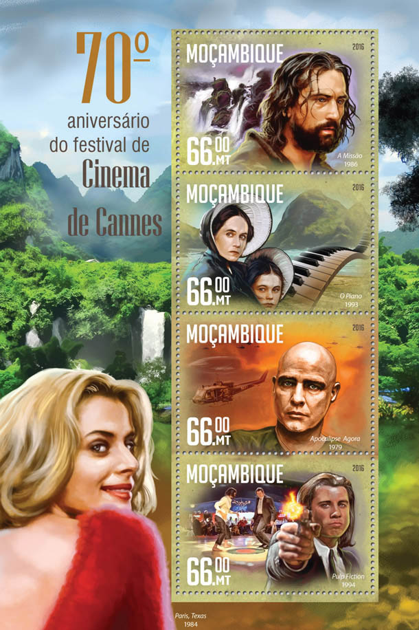 Cannes Film Festival - Issue of Mozambique postage Stamps