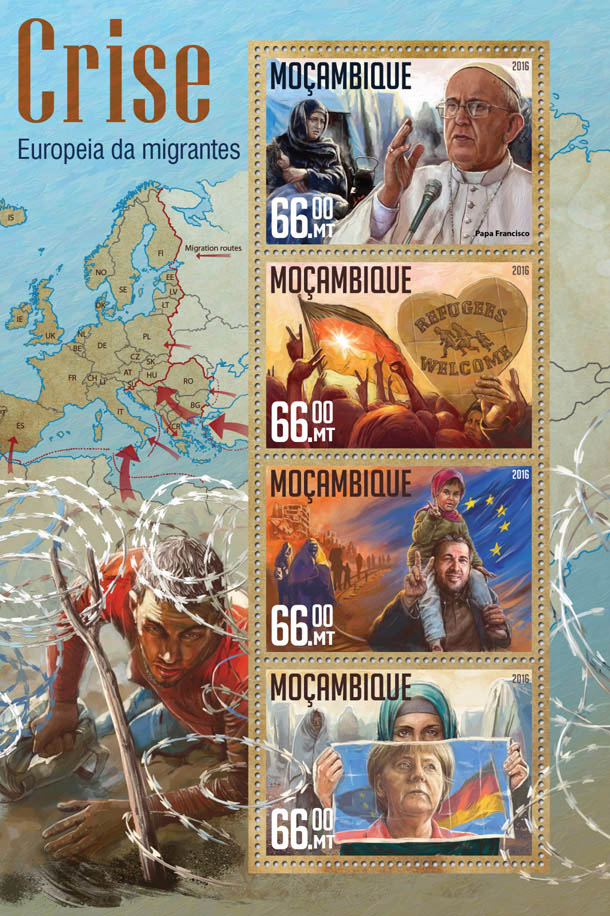 Migrant crisis - Issue of Mozambique postage Stamps