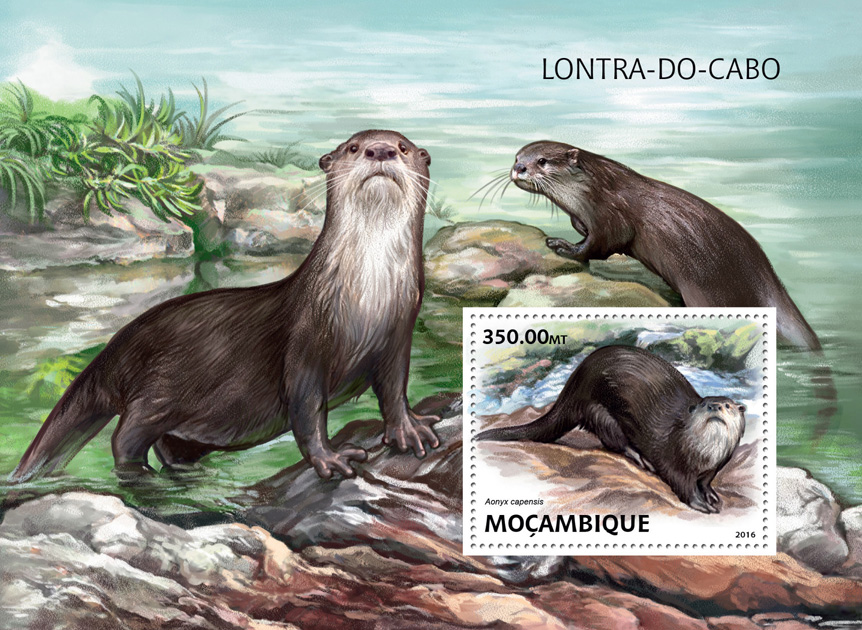 Otter - Issue of Mozambique postage Stamps