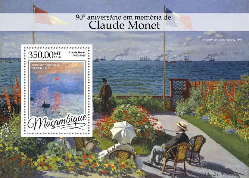 Claude Monet  - Issue of Mozambique postage Stamps