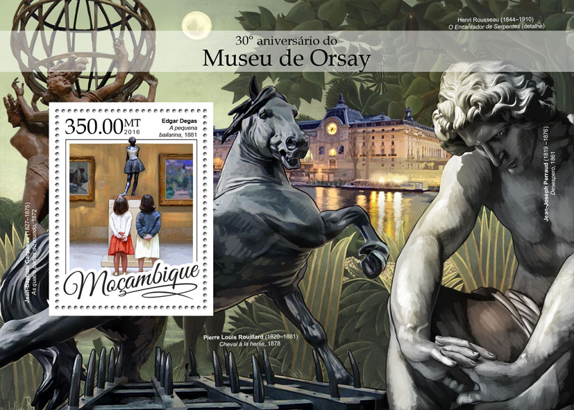 Musée d'Orsay - Issue of Mozambique postage Stamps