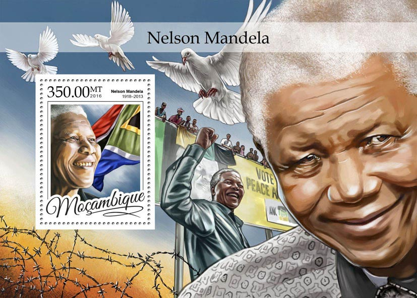 Nelson Mandela - Issue of Mozambique postage Stamps