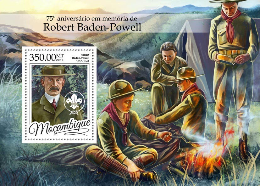 Robert Baden-Powell  - Issue of Mozambique postage Stamps