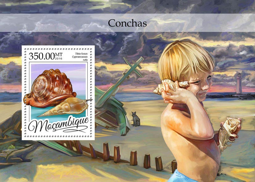 Sea shells - Issue of Mozambique postage Stamps