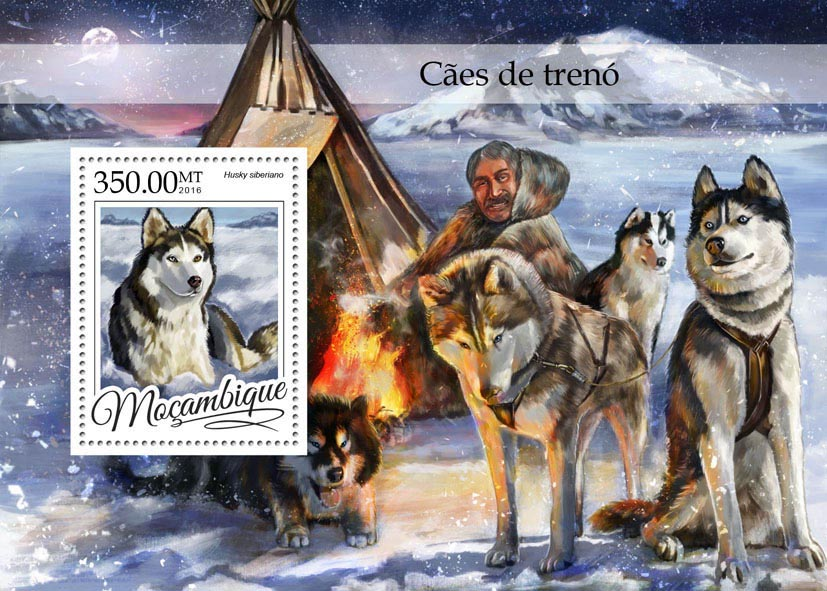 Sledge dogs - Issue of Mozambique postage Stamps