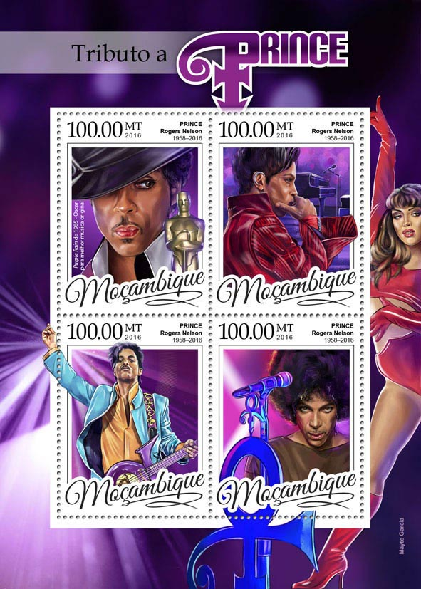 Tribute to Prince - Issue of Mozambique postage Stamps