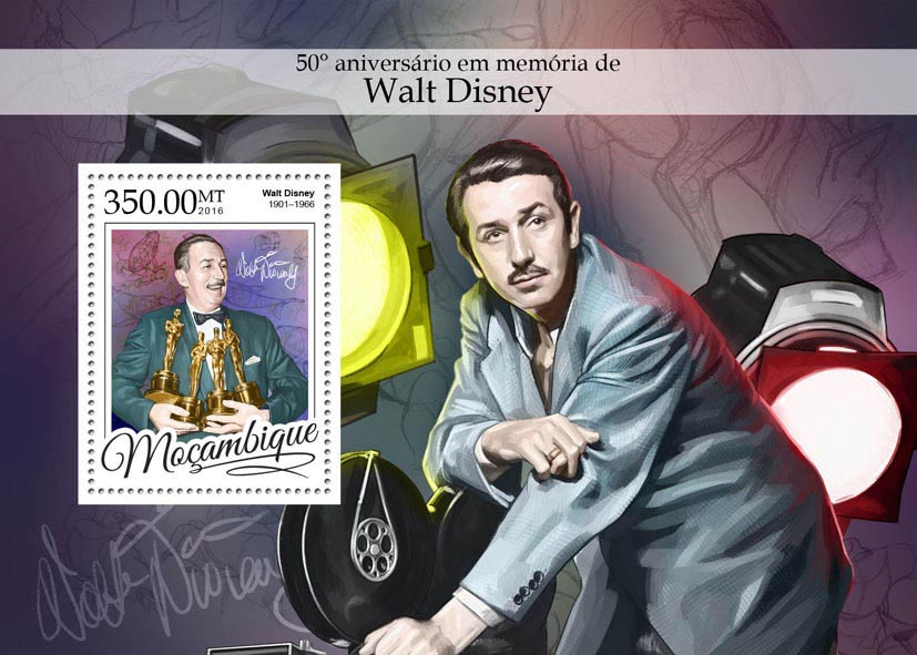 Walt Disney - Issue of Mozambique postage Stamps