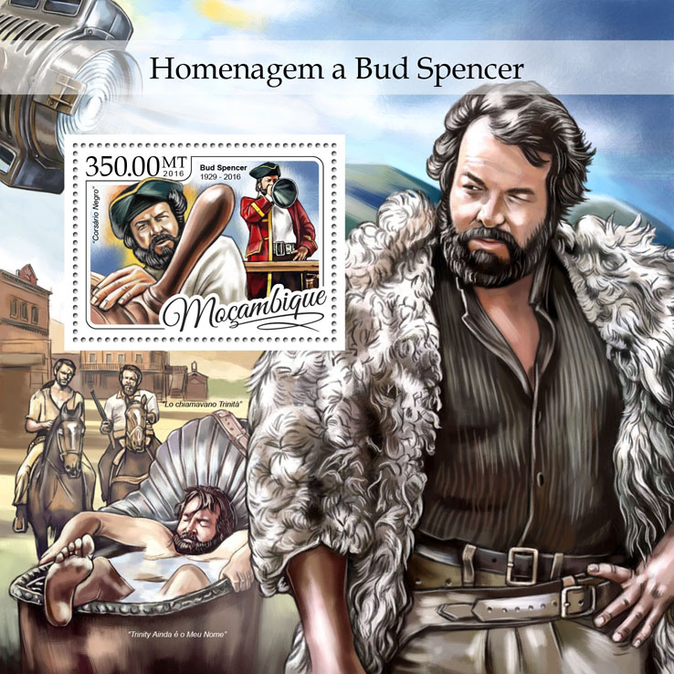 Bud Spencer - Issue of Mozambique postage Stamps